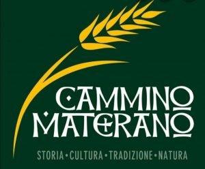 Logo del cammino materano: in primo piano la spiga di grano