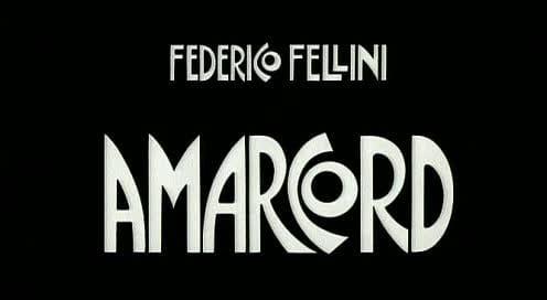 Amarcord: titolo del film di Federico Fellini