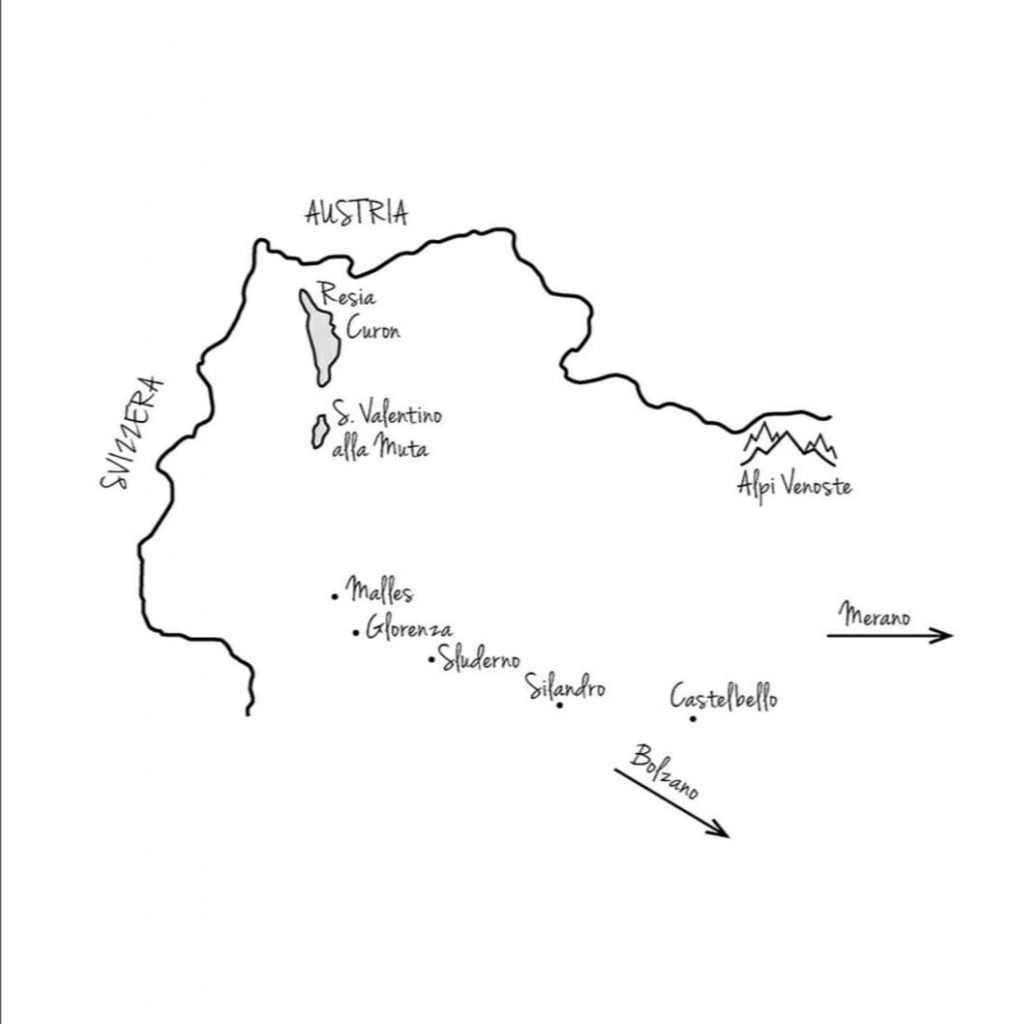 mappa dei luoghi del romanzo